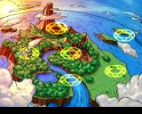 Sorcerer's Maze PlayStation The world you're out to save. All the magic symbols contain 9 stages and a boss.