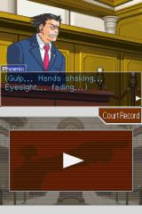 Phoenix Wright: Ace Attorney Nintendo DS Your first case, so you are nervous.