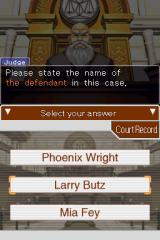 Phoenix Wright: Ace Attorney Nintendo DS Select your answer.