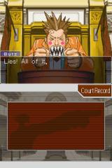 Phoenix Wright: Ace Attorney Nintendo DS Somebody is getting angry.