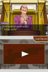 Phoenix Wright: Ace Attorney Nintendo DS He's breaking.