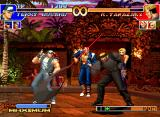 The King of Fighters '97 Neo Geo CD Ryuji Yamazaki's attack Hebi Tsukai (Gedan) being frustrated by Terry Bogard's avoiding maneuver...