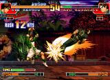 The King of Fighters '97 Neo Geo CD After 12 accurate-non-stop hits, Sie Kensou gets to hit-finish his SDM Senki Hakkei in Kyo Kusanagi!