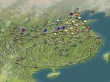 Romance of the Three Kingdoms VI: Awakening of the Dragon PlayStation An overview map of China and who owns what territory.