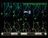 Z-Out Amiga Many small enemies attacking at the same time. Be careful, you'll die from just one hit.