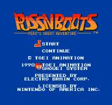 Puss N Boots: Pero's Great Adventure NES Title screen