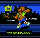 Wally Bear and the NO! Gang NES Title screen