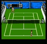 Jimmy Connors Tennis NES About to serve.