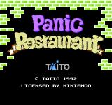 Panic Restaurant NES Title screen (US)