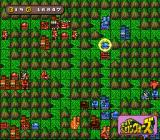 Super Famicom Wars SNES Strategic Map - Red is attacking Blue