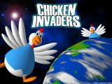 Chicken Invaders Windows Title Screen.