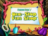 Freddi Fish's One-Stop Fun Shop Windows Title screen