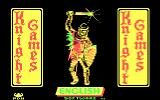Knight Games DOS Title screen (CGA)