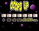 Ooops Up Amiga The title screen.