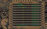 Mystical Atari ST High Scores table