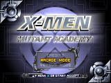 X-Men: Mutant Academy PlayStation Title screen