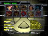 X-Men: Mutant Academy PlayStation Character selection screen