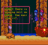 Super Widget SNES Widget's bosses tell him what to do