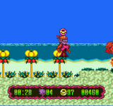 Super Widget SNES The beach has large crabs that snip at you