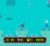 Super Widget SNES A tidal wave has submerged the entire level