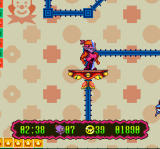 Super Widget SNES This platform rides along these blue tracks
