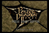 Panzer Dragoon II: Zwei SEGA Saturn Title screen
