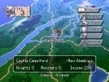 Brigandine: The Legend of Forsena PlayStation Command screen at a castle