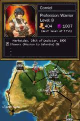 Puzzle Quest: Challenge of the Warlords Nintendo DS Map of the world