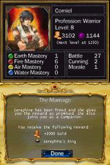 Puzzle Quest: Challenge of the Warlords Nintendo DS Quest completed.