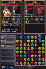 Puzzle Quest: Challenge of the Warlords Nintendo DS Fighting an imp.