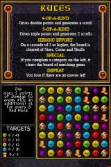 Puzzle Quest: Challenge of the Warlords Nintendo DS Forging an item.