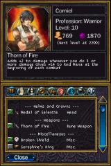 Puzzle Quest: Challenge of the Warlords Nintendo DS Equipment