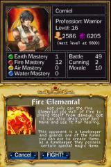 Puzzle Quest: Challenge of the Warlords Nintendo DS Do you want to fight this enemy?