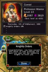 Puzzle Quest: Challenge of the Warlords Nintendo DS Another quest completed.