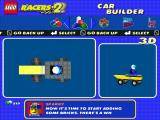 LEGO Racers 2 Windows Building a car asks you to choose a chassis first.