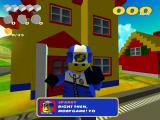 LEGO Racers 2 Windows Sparky is your guide in Sandy Bay.