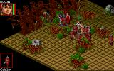 Realms of Arkania: Star Trail DOS Fighting a band of Goblins. The battle screen hasn't changed much since RoA 1