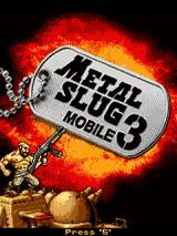 Metal Slug Mobile 3 J2ME Title screen