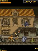Metal Slug Mobile 3 J2ME You can see what weapon you are carrying.