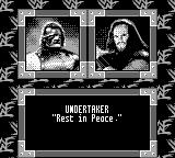 WWF War Zone Game Boy Undertaker is not amused