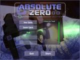 Absolute Zero DOS Main menu