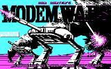 Modem Wars DOS Title screen (CGA 4 color)