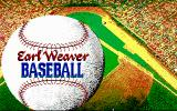 Earl Weaver Baseball DOS Title screen (EGA 16 color)