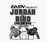 Jordan vs Bird: One on One Game Boy Title screen