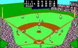 Earl Weaver Baseball DOS Overhead view of the field (EGA 16 color)