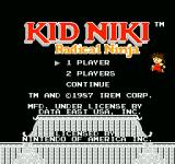 Kid Niki: Radical Ninja NES Title Screen