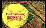 Earl Weaver Baseball DOS Title screen (CGA)