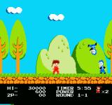 Kid Niki: Radical Ninja NES landing a blow on your enemy will send him flying backwards into the air