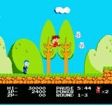 Kid Niki: Radical Ninja NES you can also jump and use your sword at the same time