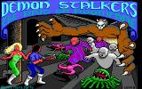 Demon Stalkers DOS Title screen (EGA)